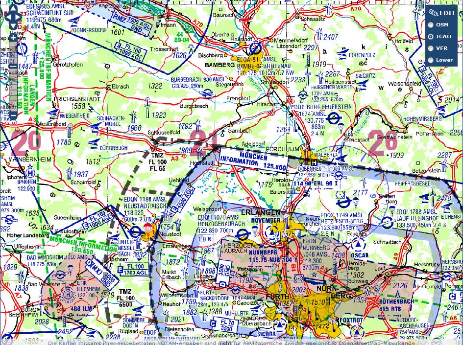 icao karte symbole Fliegen außerhalb des kontrollierten Luftraumes   Aeroblick