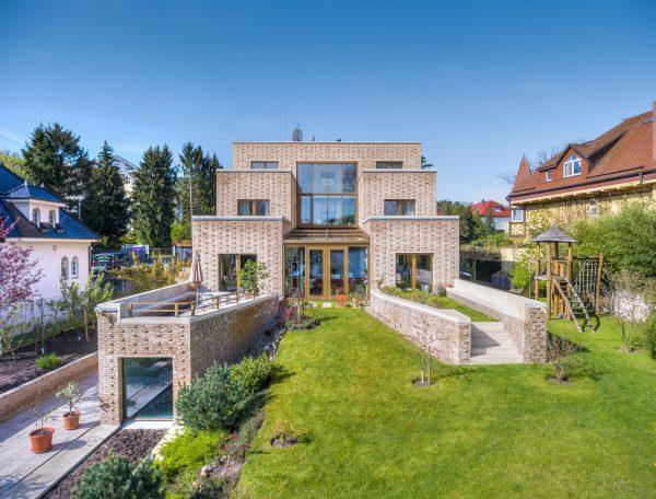 Luftaufnahmen für eine Immobilienpräsentation